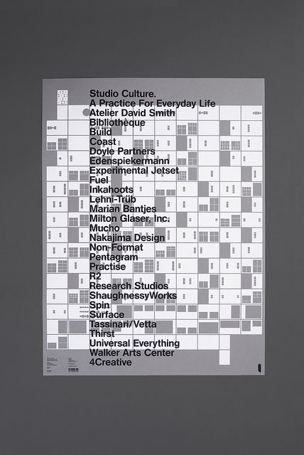Studio Culture posters by unit_editions, via Flickr