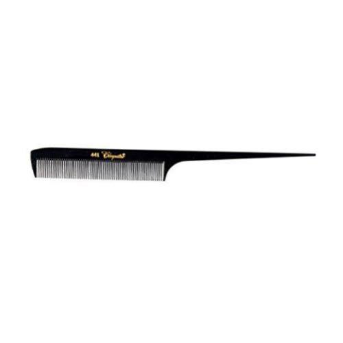 "Krest Cleopatra 8-1/2"" Extra Fine Tooth Rat tail Comb #441- Black"