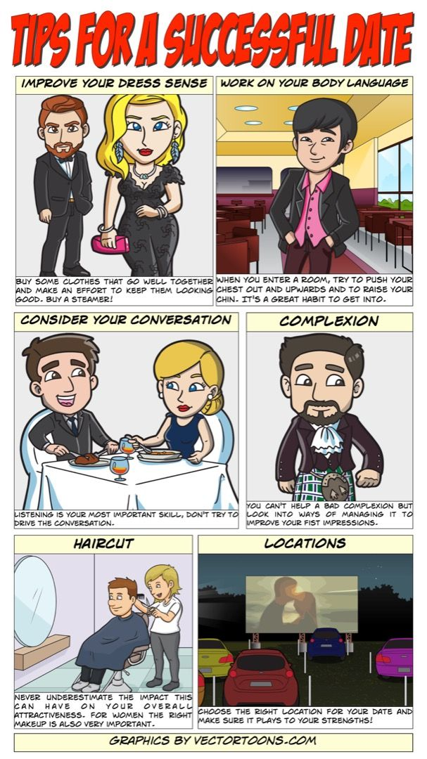 Tips For A Successful Date #comic #cartoon #article #clipart