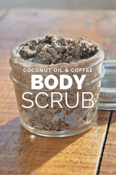 Coconut Oil & Coffee Body Scrub Recipe. Mmmm! This would be perfect to use in the morning to get your day started!