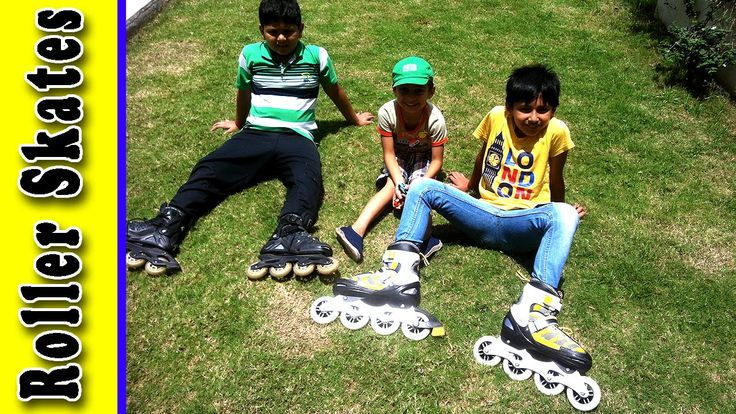 Children Playing in The Park With Roller Skates Inline Skating Unboxing For Kids by JeannetChannel