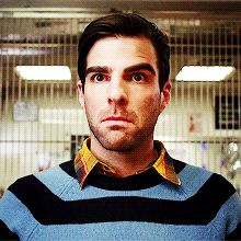 This gif of Zach explains so much of my feelings towards human contact/interaction
