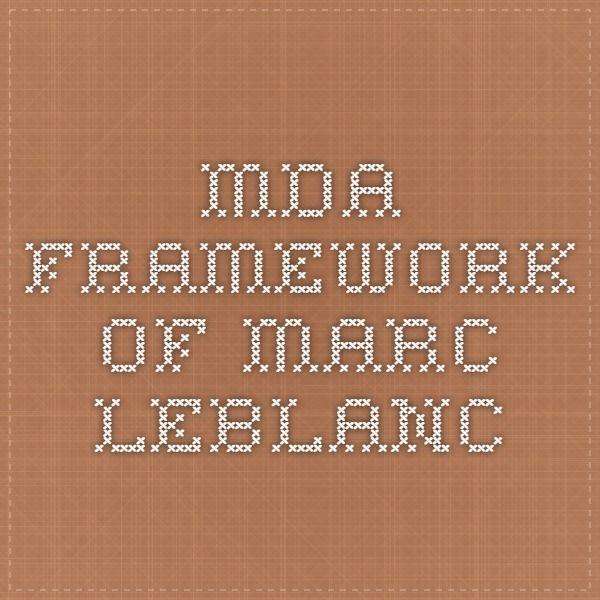 MDA Framework of Marc LeBlanc