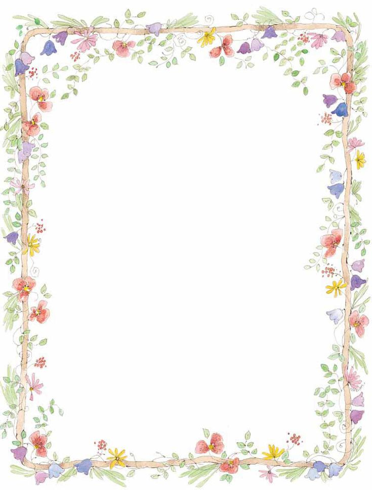 pink floral borders | ... flowers for wedding invitation or stationery background, border