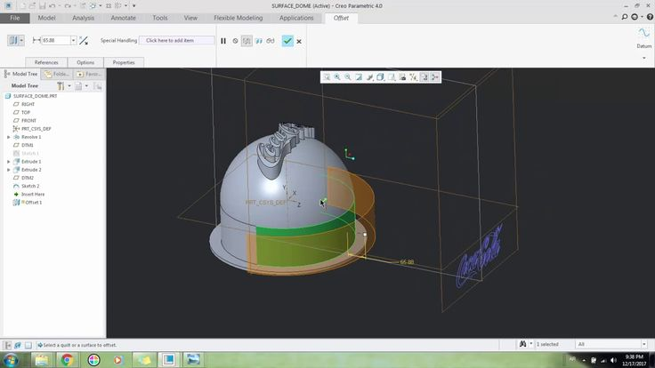 How to extrude a Sketch on Surfaces in Pro Engineer
