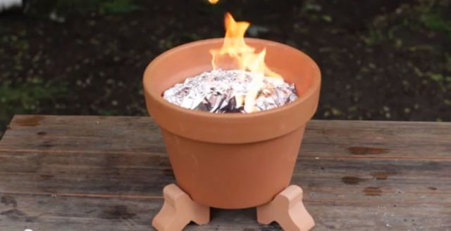 Turn a Terracotta Pot into a Mini Barbecue for On-the-Go Grilling  - CountryLiving.com