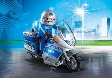 Politi motorcykel med lys - Playmobil 6923 Shop - Eurotoys - Legetøj online
