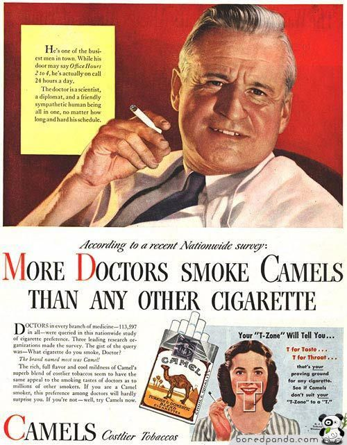 Camels: More Doctors Smoke Camels, 1946 - If you love Mad