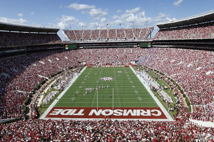 Bryant–Denny Stadium is home to the Alabama Crimson Tide in Tuscaloosa. #SEC