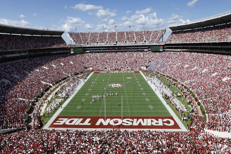 Bryant–Denny Stadium is home to the Alabama Crimson Tide in Tuscaloosa. #SEC