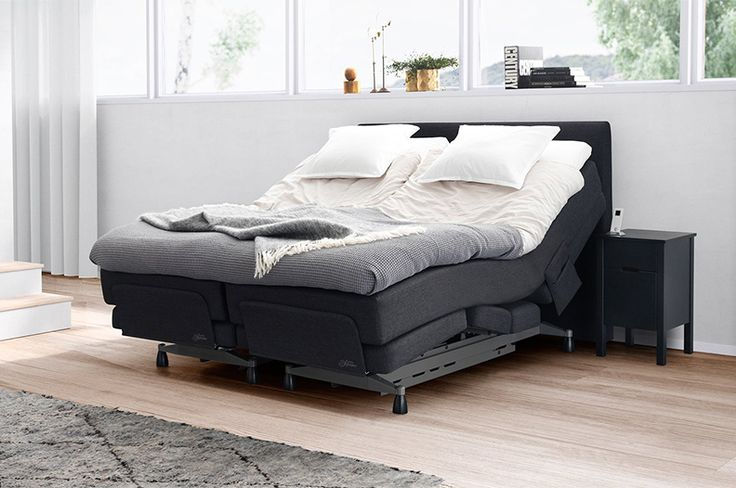 Jensen Dynamique adjustable bed is of the most exclusive beds available. The bed has Ventronic® climate control that extracts excess heat from the mattress and replaces it with fresh air. This provides a comfortable sleep climate. It also features a massage program that stimulates blood circulation and offers daily relaxation for the legs, back and shoulders. The bed's wake-up function allows you to wake up to either your favourite music or massage.
