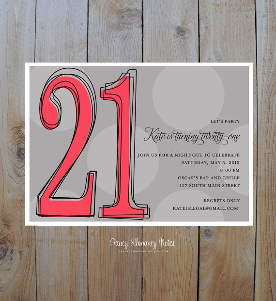 17 Best Images About 21st Invitations On Pinterest