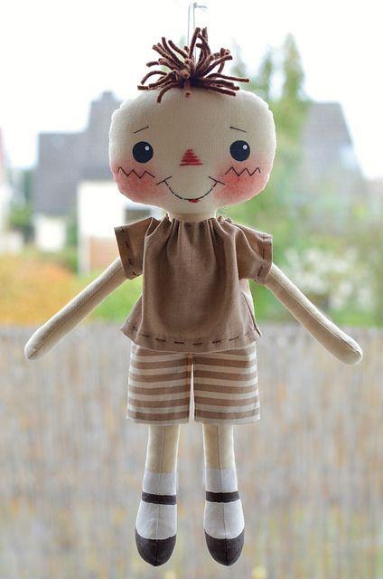 Drei kleine Vogelscheuchen Nr.2 | Cute primitive rag doll pa… | Flickr