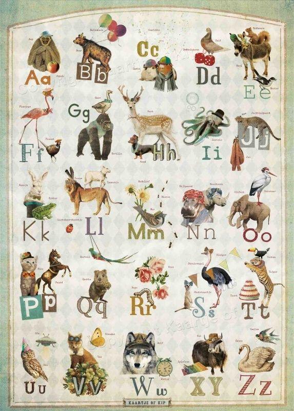 Kaartje of Kip `Poster ABC'   Vers van de pers   Petite Louise