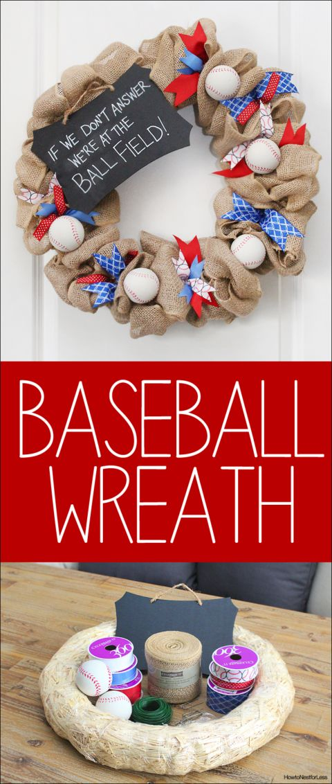 easy diy baseball wreath