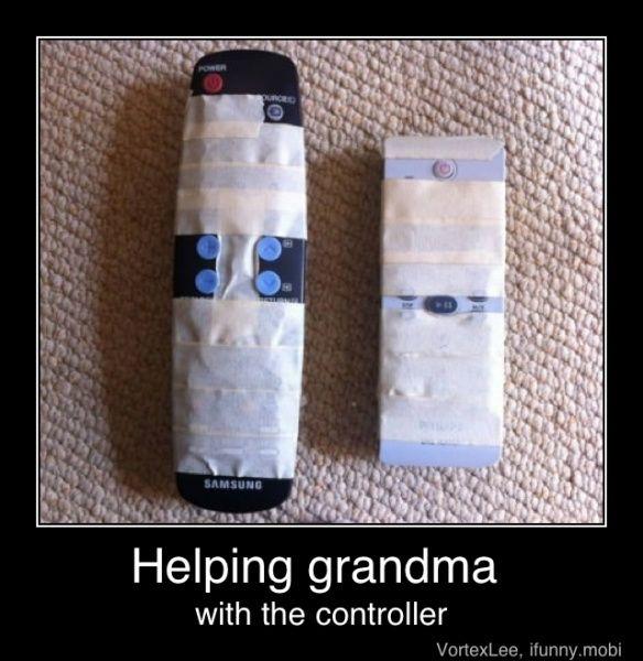 Helping Grandma.. haha
