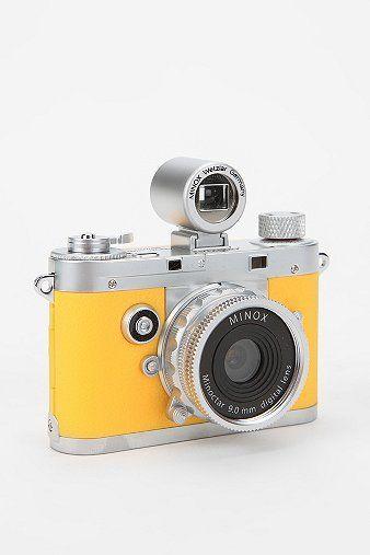 MINOX classic mini digital camera | canary yellow happy little guy