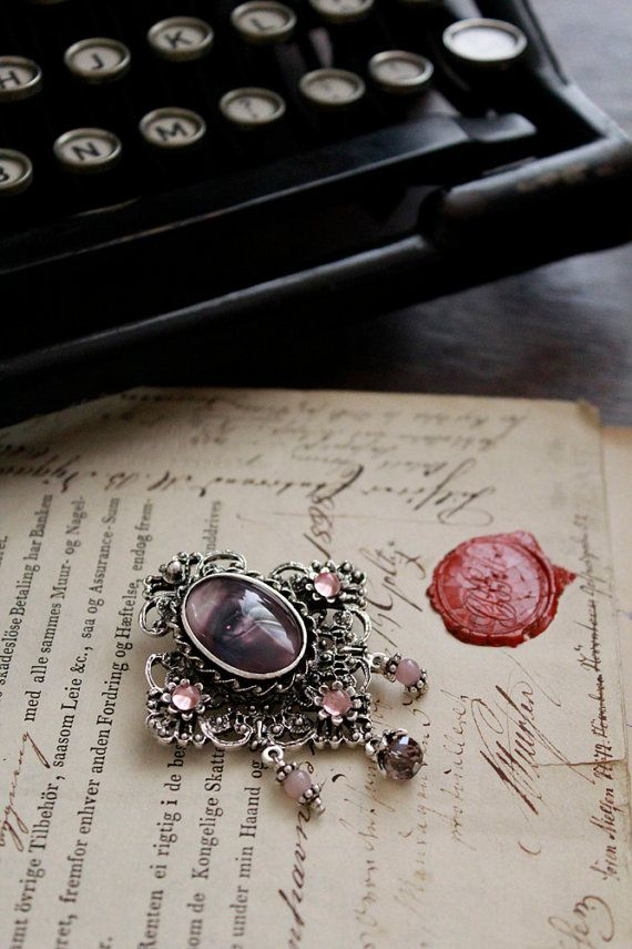 Pink & Purple Prototype EYE Decadent Art Brooche by Mizzdraconia, $35.00
