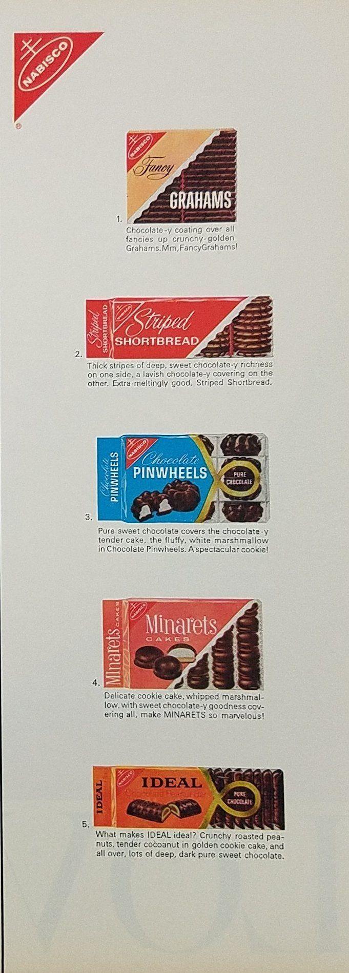 1965 Nabisco Cookies Vintage Ad - Fancy Grahams Shortbread Pinwheels Minarets Ideal