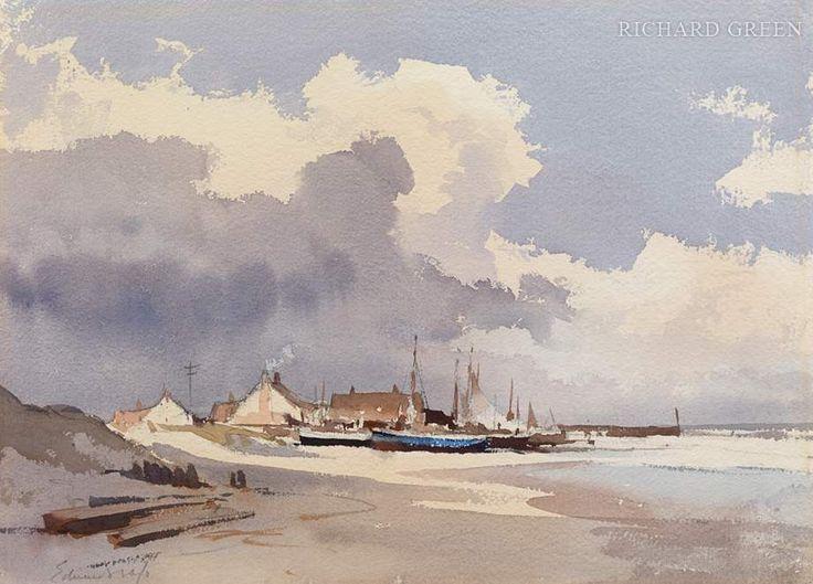 Edward Seago - Longshore boats, Norfolk