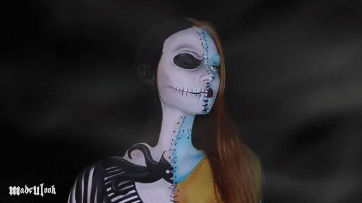 Nightmare Before Christmas Jack and Sally Makeup Tutorial