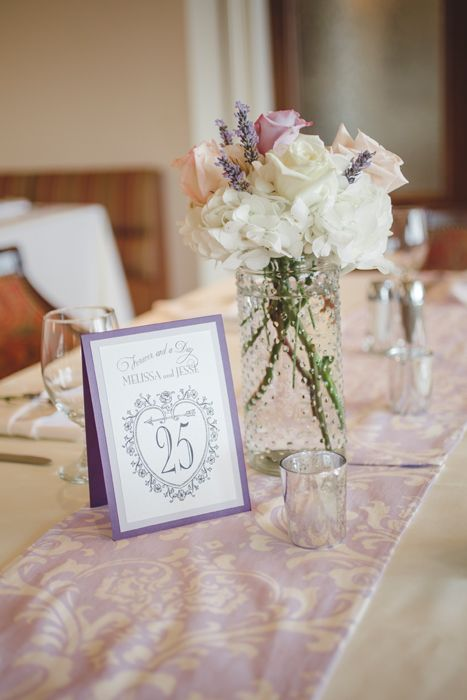 Ornate Lavender Table Numbers