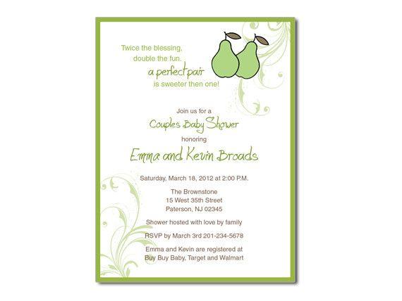 Perfect Pair Wedding/Baby Shower Invitation