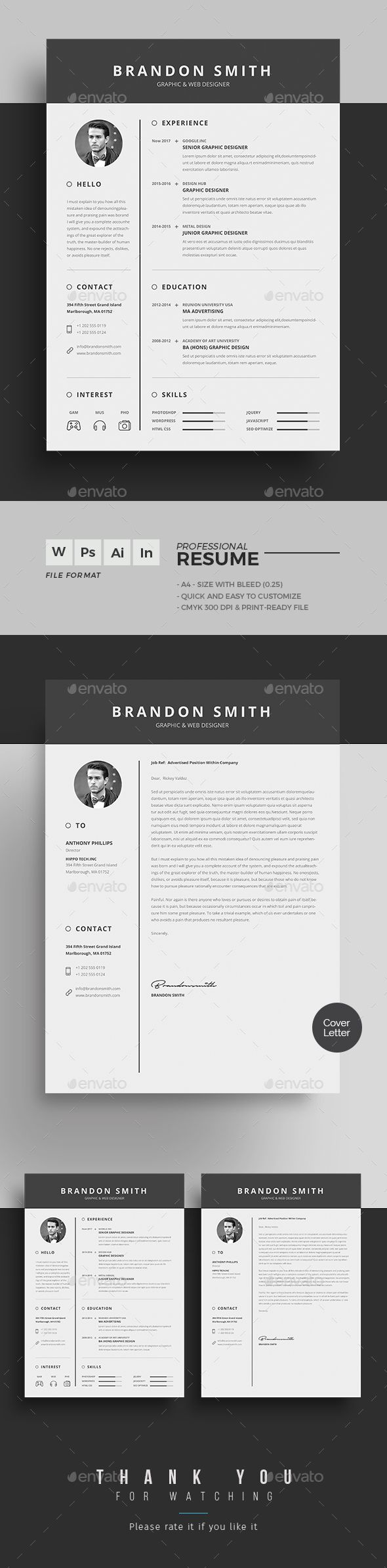 #Resume - Resumes Stationery Download here: https://graphicriver.net/item/resume/19258753?ref=alena994