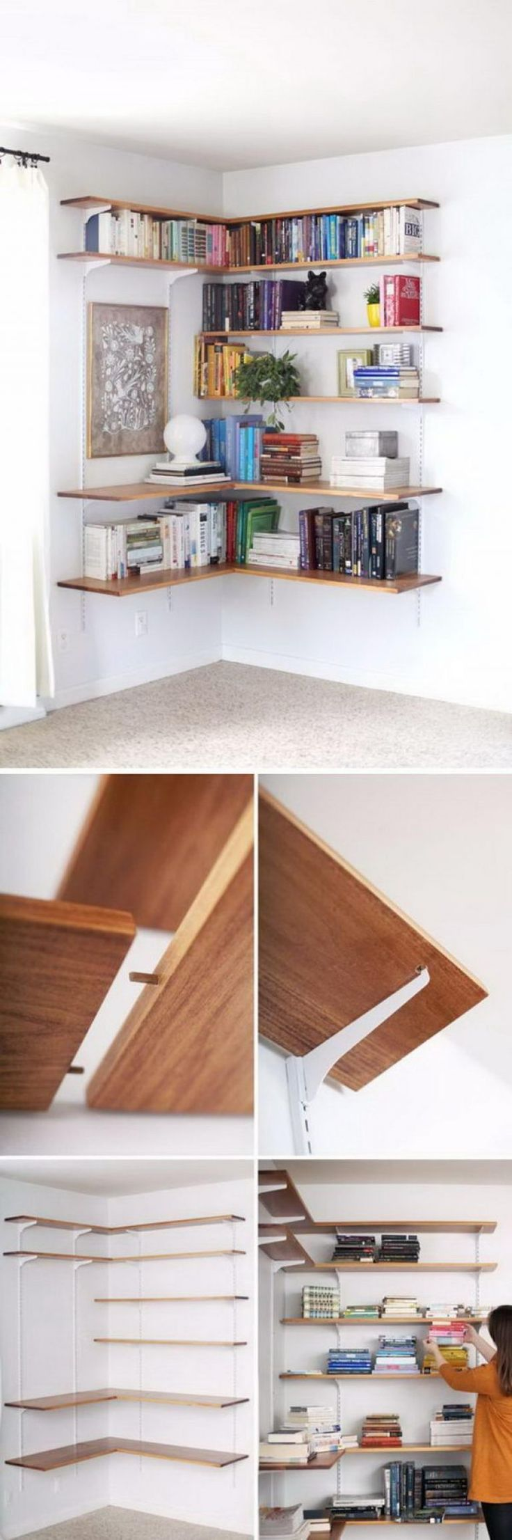 20+ DIY Corner Shelves to Beautify Your Awkward Corner - The corners of the houses are some of those places that most people