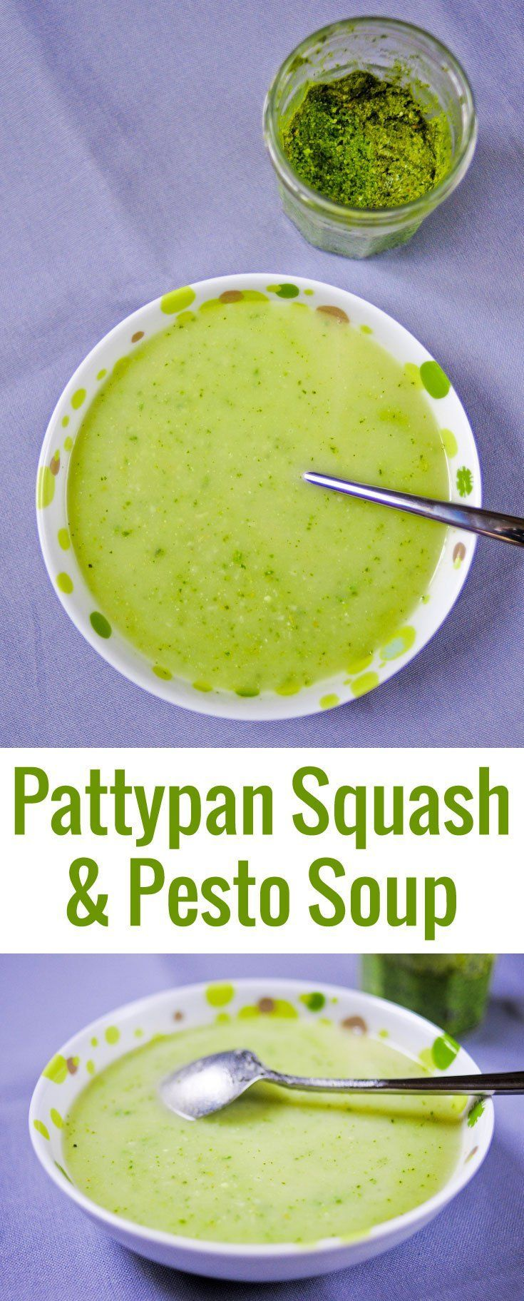 The flavors of this simple pattypan squash soup is elevated by a swirl of pesto. Fragrant and satisfying for a weeknight dinner.