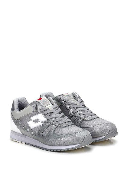 LOTTO LEGGENDA - Sneakers - Donna - Sneaker in pelle e tessuto laminato con suola in gomma. Tacco 15. - GRIGIO - € 98.36