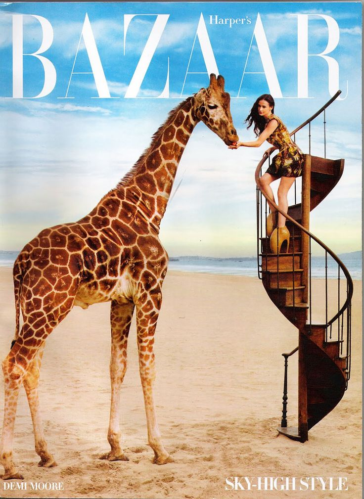 Demi Moore in the April 2010 issue of Harper's Bazaar
