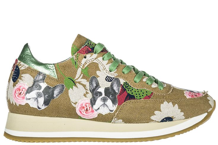 PHILIPPE MODEL WOMEN'S SHOES TRAINERS SNEAKERS NEW ETOILE BULLDOG BROWN 856