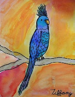 Watercolor Birds Art Lesson…Easy and Fun!