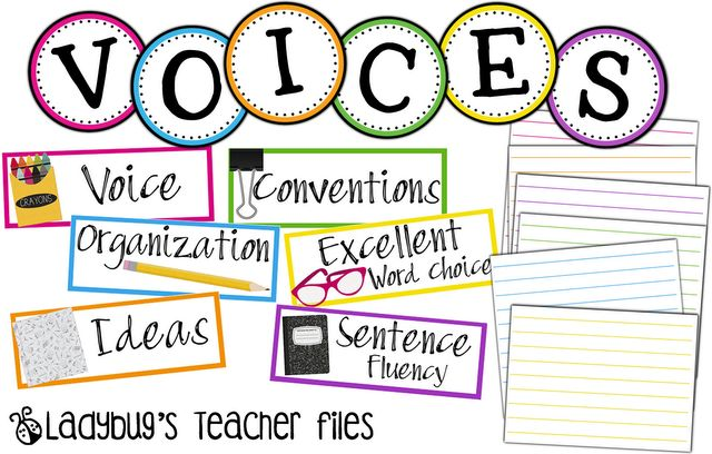 Ladybug's Teacher Files: VOICES Headers {free download}    LIKE CAFE/CRAFT but for writing. holy moly.
