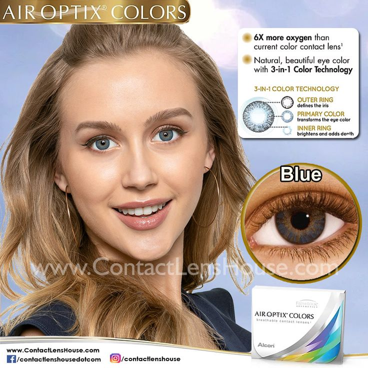 Air Optix Colors Blue in 2020 Green contacts lenses