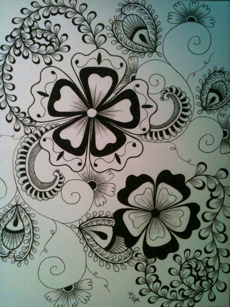 249 Best Images About Zendoodle Flower On Pinterest