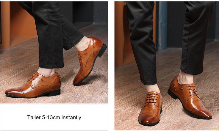scarpe con rialzo interno uomo - 7 cm più alti  € 160,80 ------------------------------------------------------- Materiale superiore : cerata in pelle di mucca Occasione : Ufficio, Commercio, partito . scarpe altezza crescente sembrano scarpe normali dall'esterno perché i tacchi sono nascosti. scarpe altezza crescente sono attraenti per coloro che desiderano sembrare più alto immediatamente ed efficacemente.