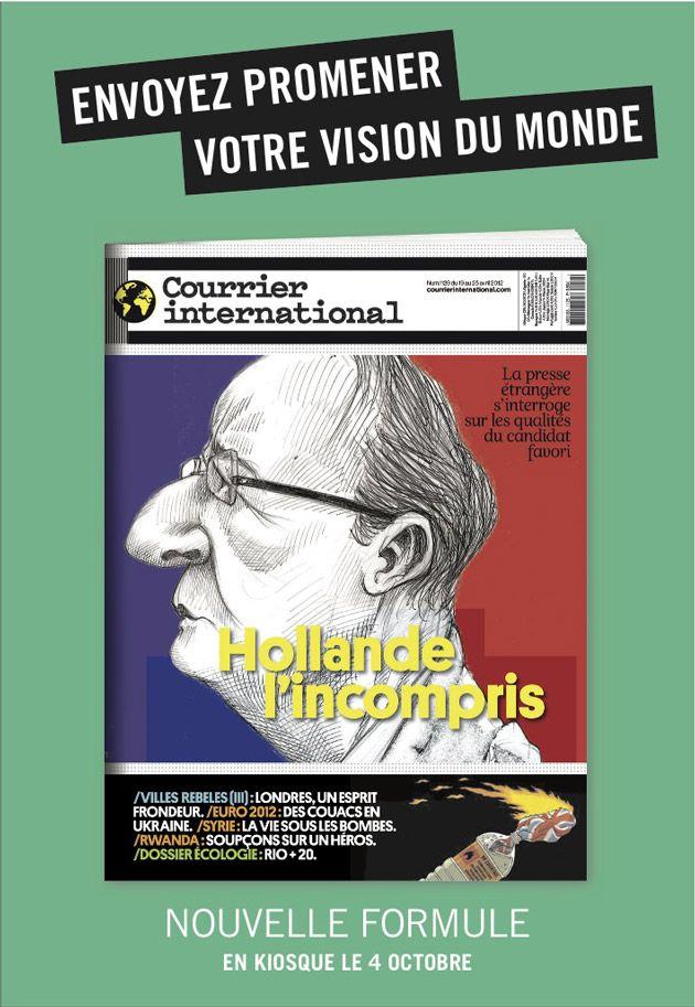 Courrier International. Envoyez promener votre vision du monde. Couverture. BETC Paris, 2012