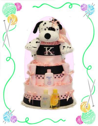 Dalmatian Girl Diaper Cake