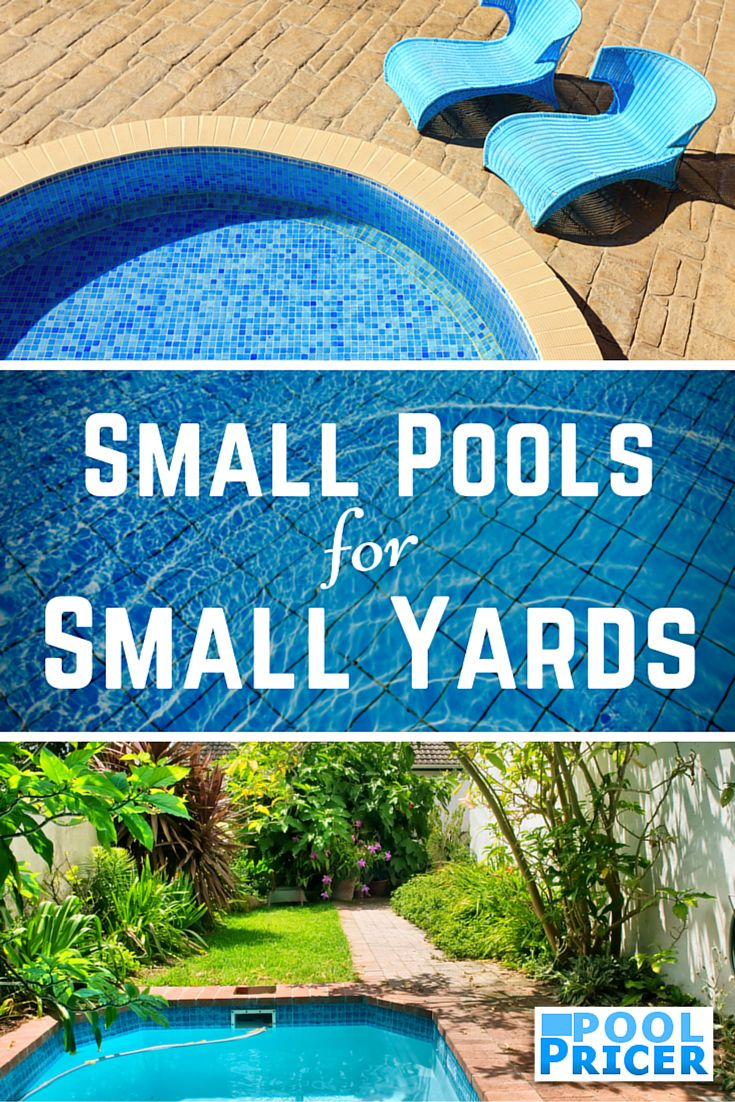 When you don't have much room for a pool: http://www.poolpricer.com/small-pools-for-small-yards/