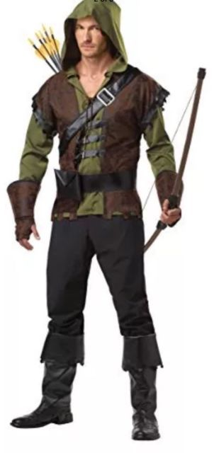 California Costumes Robin Hood Adult Costume, Olive/Brown, Medium M (40-42) | eBay