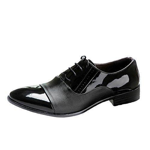 Oferta: 19.95€. Comprar Ofertas de Nonbrand - Zapatos de cordones de piel sintética para hombre, color Negro, talla 44 barato. ¡Mira las ofertas!