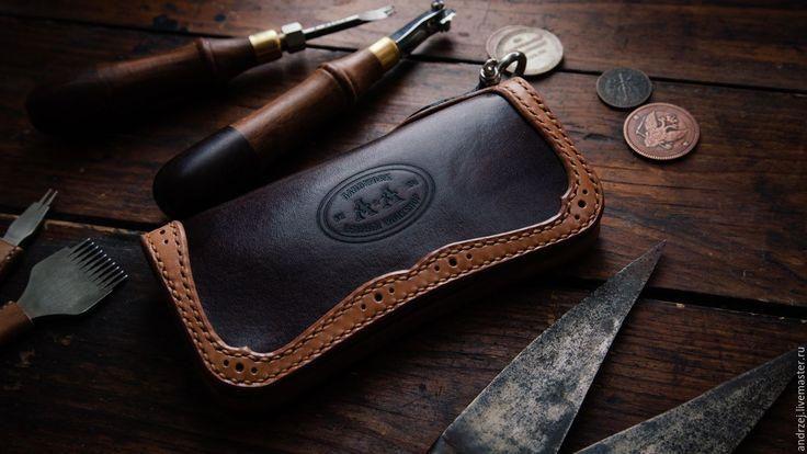 Купить Мужской бумажник (Long Wallet) - ручная работа - коричневый, ручная работа