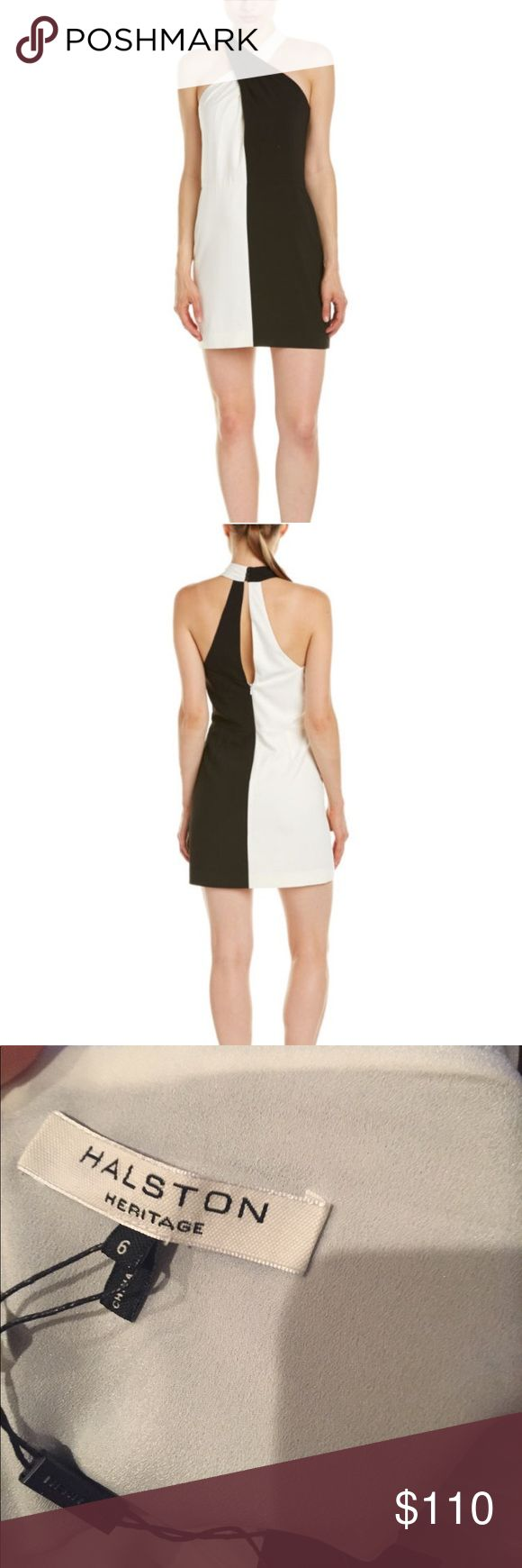 Classy NWT Halston Heritage Dress Classy halter style black and Halston Heritage dress. I was going to wear it to a party and didn't return it in time. My indecision is your gain. Get this great dress at a greater price! Halston Heritage Dresses