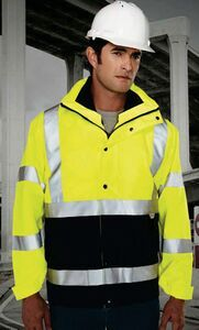 Tri-mountain Safety Workwear Industry Jacket 3-in-1 System Parka