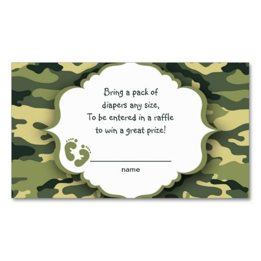 1436 best baby raffle ticket images on pinterest business cards green camo raffle tickets or insert cards business card colourmoves
