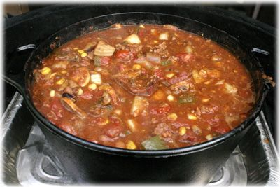 Make authentic Texas Roadhouse Chili on your BBQ...