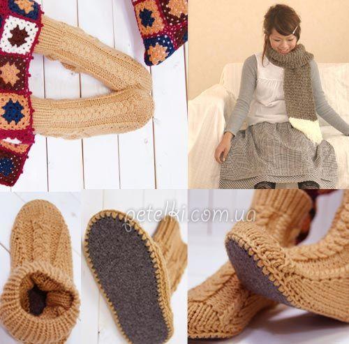 Схема вязания домашних сапожек спицами фото 705
