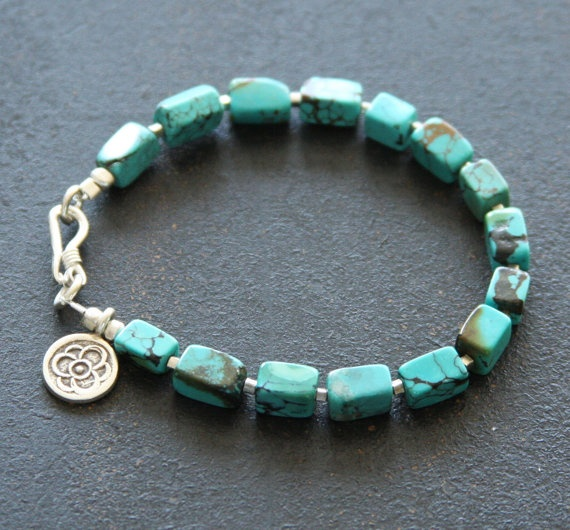 Everyday Turquoise and Fine Silver Charm Stacker by RELMoriginals, $48.00